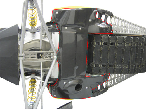 RPM Composites, XP Chassis carbon fiber belly/drivetrain skidplate