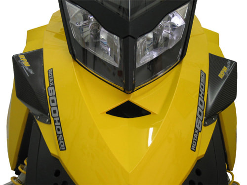 RPM Composites, Carbon Fiber Hood Deflector Kit -- REV XP Chassis